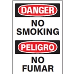Bilingual Danger: No Smoking Sign