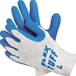 FlexTuff Blue Latex Gloves