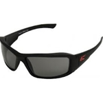 Torque Matte Black Smoke Polarized Lens Safety Glass