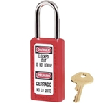 "Lock 1.5"" Shackle 3"" Body Red KD"