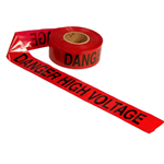 Red Danger High Voltage Tape