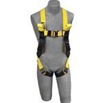 DBI-Sala Delta II Arc Flash Harness, 7000 lb. Nylon Web, Vest Style, Back Web Loop, Quick-Connect Buckles, Leather Insulators, Rescue Loops