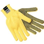 Kevlar gloves w/ PVC dots one side L