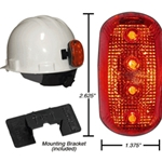 Red LED Safety Hard hat Light