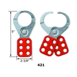 "Red 1.5"" Jaw Lockout Hasp"